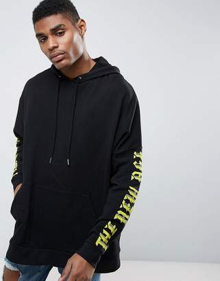 Asos Extreme Oversized Hoodie With Gothic Text