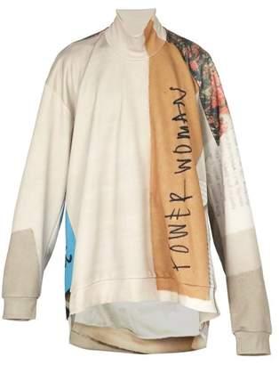 Marques Almeida Marques'almeida - Oversized Printed Roll Neck Sweatshirt - Mens - Multi