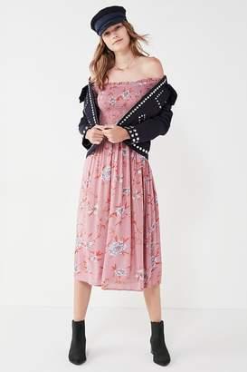 Kimchi Blue Off-The-Shoulder Smocked Dress $69 thestylecure.com