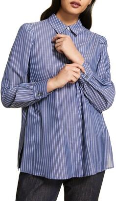 Marina Rinaldi Baltico Stripe Button-Up Shirt