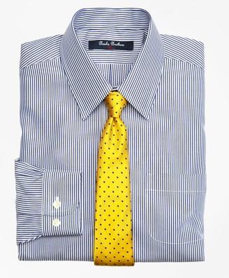 Brooks Brothers Non-Iron Supima Cotton Broadcloth Candy Stripe Dress Shirt