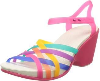 Crocs Womens Huarache Wedge Sandal Shoes, Multi/Candy Pink, US 8
