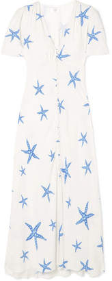DAY Birger et Mikkelsen RIXO London - Jade Printed Crepe De Chine Midi Dress - White