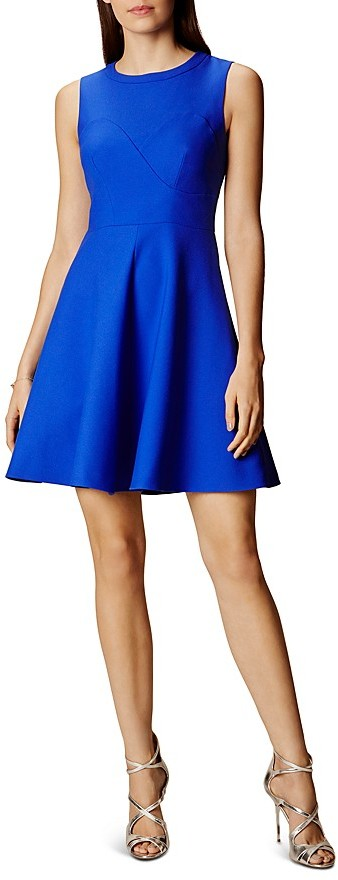KAREN MILLEN Seamed Skater Dress