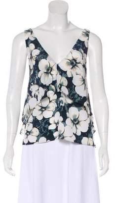 Intermix Silk Floral Print Top