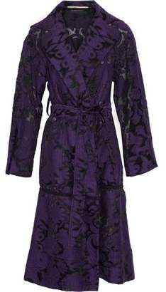 Roland Mouret Fil Coupé Cotton And Silk-Blend Trench Coat