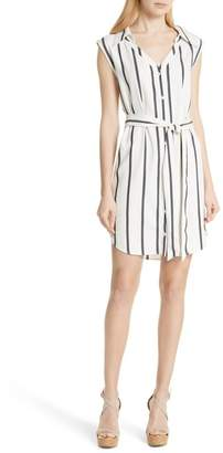 Alice + Olivia Payton Stripe Sleeveless Shirtdress