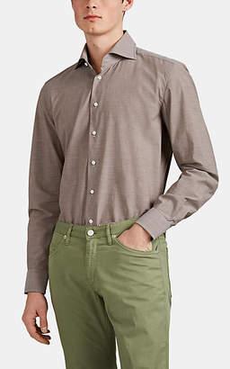Cifonelli Men's Cotton End-On-End Shirt - Brown