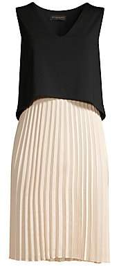 Donna Karan Women's Popover Pleated Skirt Shift Dress