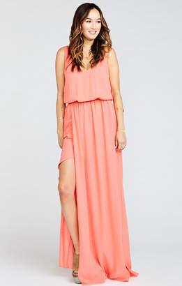 Show Me Your Mumu Kendall Maxi Dress ~ Bright Coral Crisp