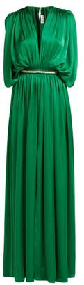 Maison Rabih Kayrouz Draped Charmeuse Gown - Womens - Green