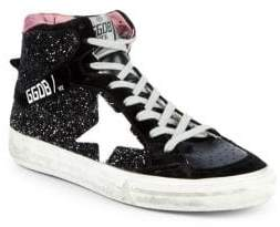 Golden Goose High-Top Lace-Up Sneakers