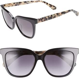 Kate Spade Kahli 53mm Cat Eye Sunglasses