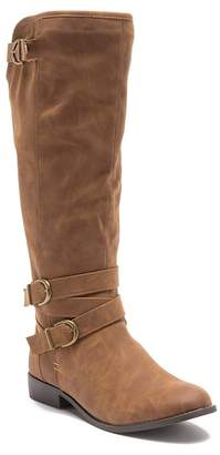 Madden-Girl Karinee Faux Leather Buckle Boot