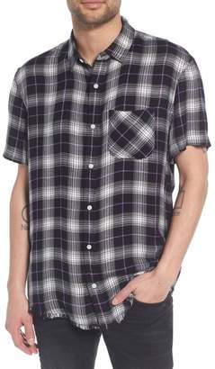 The Rail Drapey Plaid Short Sleeve Shirt