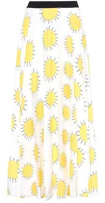 Christopher Kane Printed crêpe skirt