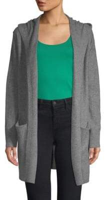 Vince Heathered Cashmere Hooded Cardigan