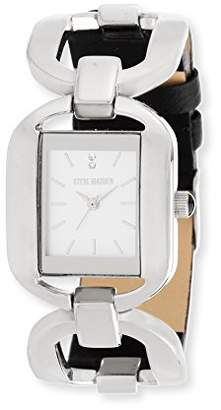 Steve Madden Women's SMW048BK Analog Display Japanese Quartz Black Watch