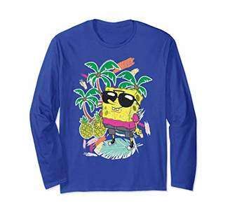 Nickelodeon Spongebob Squarepants Tropical Long Sleeve T-shirt