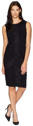 Adrianna Papell Matte Jersey Pintuck Sheath Women's Dress