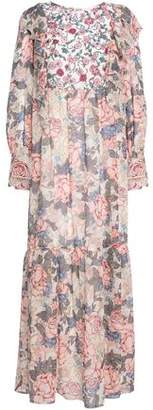 See by Chloe Crepe De Chine-Paneled Floral-Print Silk-Georgette Maxi Dress