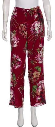 Gucci Blooms Silk Pants