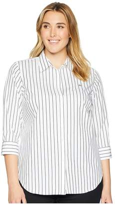 Lauren Ralph Lauren Plus Size No-Iron Button-Down Shirt Women's Long Sleeve Button Up