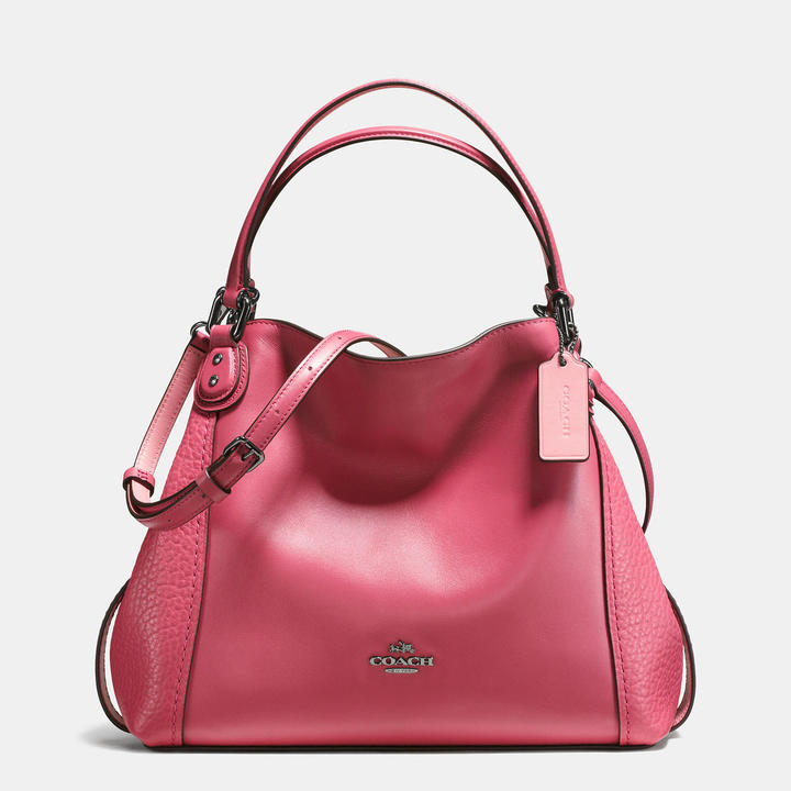 Coach  COACH Coach Edie Shoulder Bag 28 In Mixed Leathers