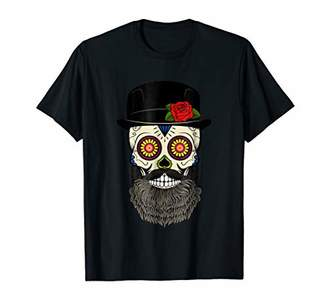 DAY Birger et Mikkelsen of the Dead T-Shirt Bearded Sugar Skull Halloween Gift