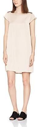 Vila Women's 040072 Crew Neck Short Sleeve Dress - Pink