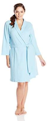 Casual Moments Women's Plus-Size Waffle Knit Robe In Plus