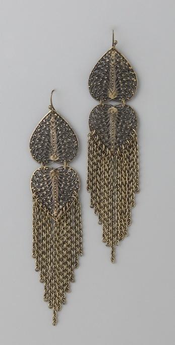 Adia Kibur Hearts & Chain Earrings