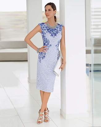 Together Lace Print Dress