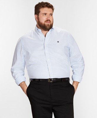 Brooks Brothers Non-Iron Big & Tall Oxford Stripe Sport Shirt