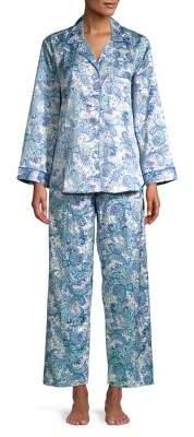 Miss Elaine Printed Two-Piece Pajama Set