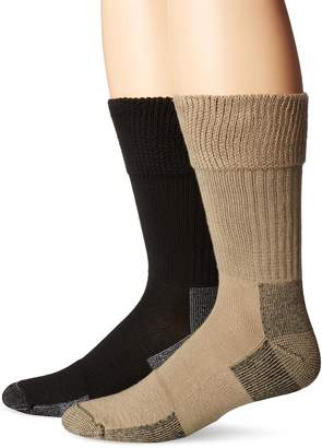 Dr. Scholl's Men's Advanced Relief Big and Tall D and C Crew 2 Pack Socks