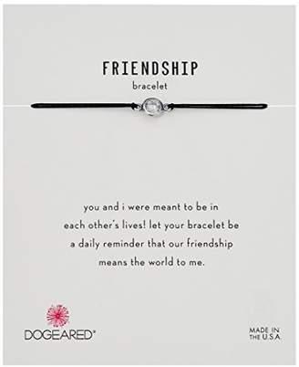 Dogeared Friendship Crystal On Black Cord Bracelet