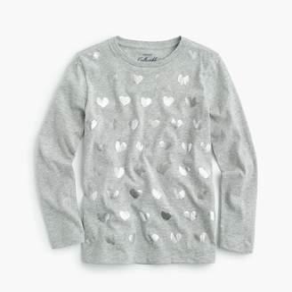 J.Crew Girls' T-shirt in glitter hearts