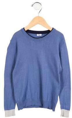 Il Gufo Boys' Knit Colorblock Sweater