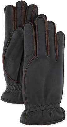 Loro Piana Leather Gloves with Cashmere Lining