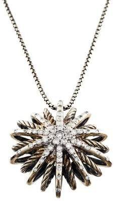 David Yurman Diamond Starburst Medium Pendant Necklace