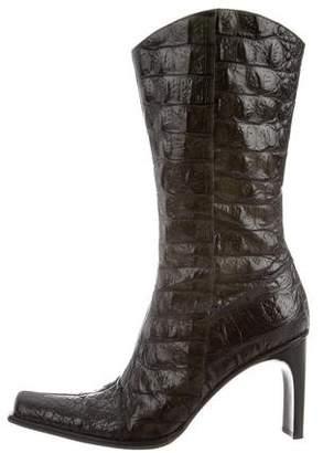 Donald J Pliner Crocodile Mid-Calf Boots