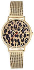 Vince Camuto Women's Leopard Goldtone Mesh Bracelet Watch