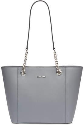 Calvin Klein Hayden Saffiano Leather Large Tote