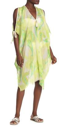Athena POOL TO PARTY Cold Shoulder Print Cover-Up