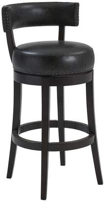 Dwellist Richards 30 Wood Swivel Bar Stool, Espresso Finish