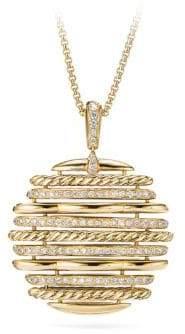 David Yurman Tides 18K Yellow Gold& Diamond Pendant Necklace