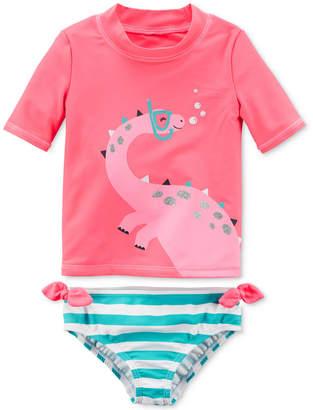Carter's 2-Pc. Dinosaur Rash Guard Swim Set, Toddler Girls