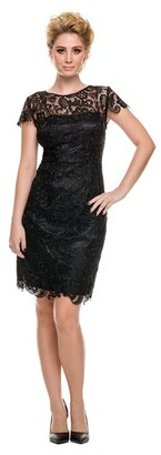Nox Anabel - Cap Sleeves Short Lace Formal Dress 5064 $92 thestylecure.com
