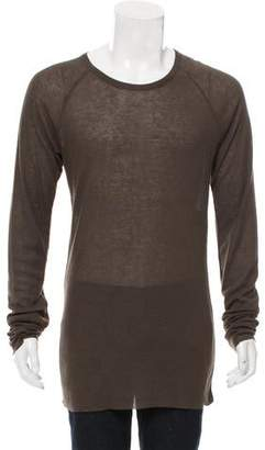 Haider Ackermann Wool-Blend Rib Knit T-Shirt w/ Tags